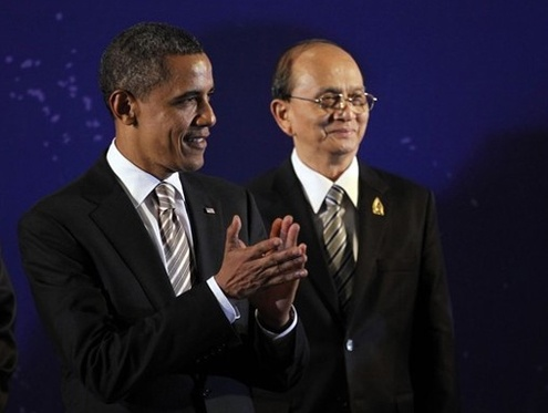 Obama congratulates Thein Sein on 'historic milestone'