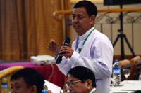 A file photo of Burma's new Information Minister Ye Htut (Photo: DVB)