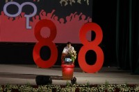 "A file photo of Min Ko Naing, an 88 generation student leader, giving a speech at the opening ceremony of a memorial and exhibition marking the 25th anniversary of the democratic uprising, known also as ""8888"", in Rangoon on 6 August 2013. (PHOTO: Reuters)"