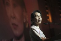 File photo of Aung San Suu Kyi, head of the opposition party National League for Democracy. (PHOTO: Associated Press)