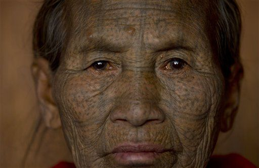 An ethnic Chin woman of the Daai sub-tribe.(PHOTO: AP)