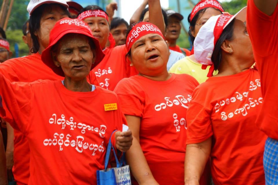Funeral rites for land grab protestors in Michaungkan