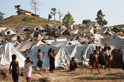 Rohingya IDPs at Taung Paw Camp in Arakan State (PHOTO: UK FCO)