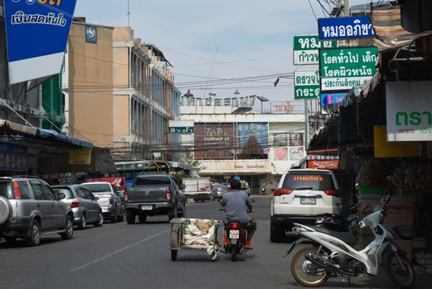 Street view of Mahacai, a port town west of Bangkok and home to hundreds of thousands of Burmese migrant workers.