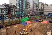 A construction site in Burma's rapidly developing former capital, Rangoon, July 2014 (PHOTO: Feliz Solomon/DVB)