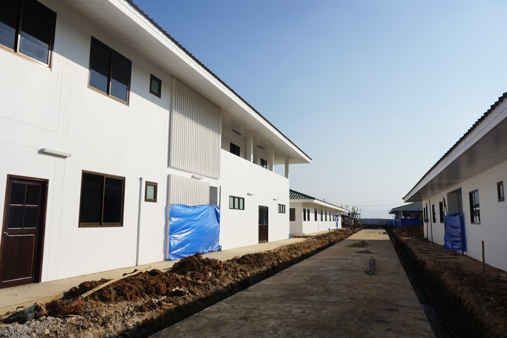Constructions underway for new relocated clinic. (Photo: Wenying Seah/DVB)