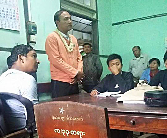 Teacher jailed for leading Irrawaddy protest 'column'
