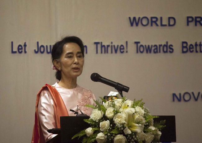 Burma 'lagging behind' on press freedom, says Suu Kyi
