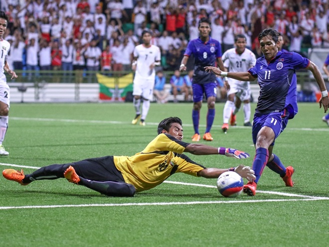 SEA Games football: 2 goals in final minutes save Burma's skin