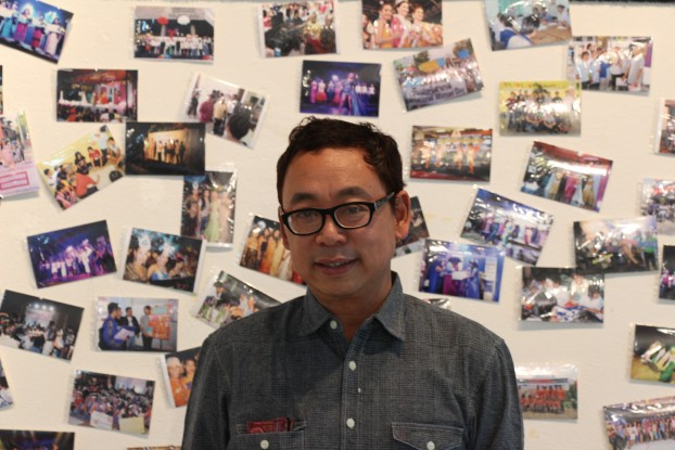 LGBTIQ and human rights activist Aung Myo Min at the Chiang Mai screening of 'This Kind of Love'. (PHOTO: DVB).