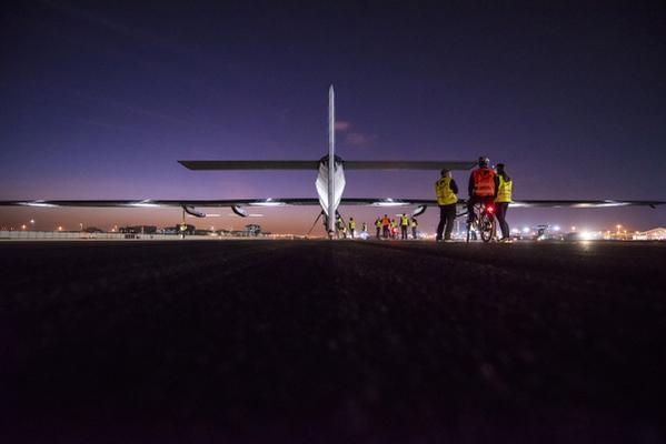 The Solar Impulse 2 lands safely in Nagoya, Japan. (PHOTO - Solar Impulse 2).