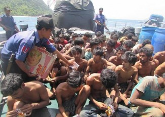 102 men were found on the island of Saunggauk. (PHOTO: Myawady News).