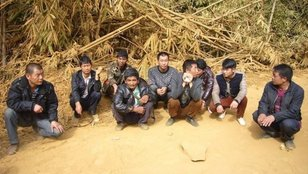 Some of the Chinese nationals at the time of their arrest for logging in Kachin State. (PHOTO: MOI)