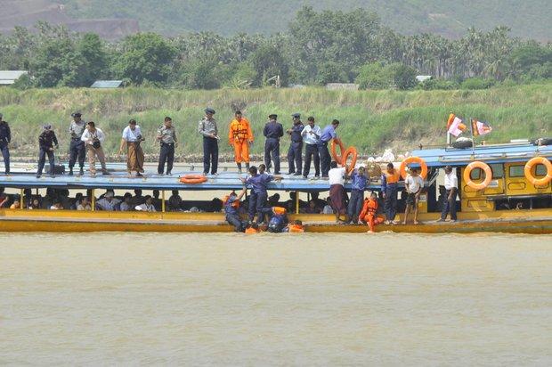 Chindwin ferry capsizes in whirlpool, 12 feared dead