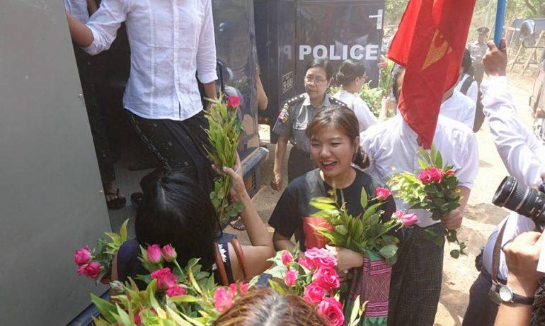 Prisoners freed across Burma