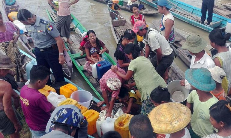 Flooding leaves Sagaing villagers short of drinking water