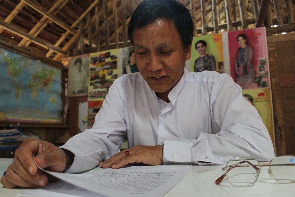 Headmaster U Par Htwe. (Photo: Libby Hogan / DVB)