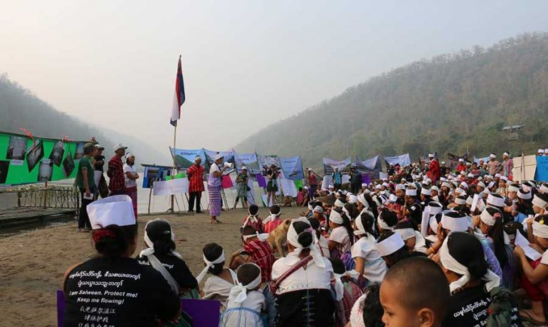Karen clashes linked to controversial dam project, say activists