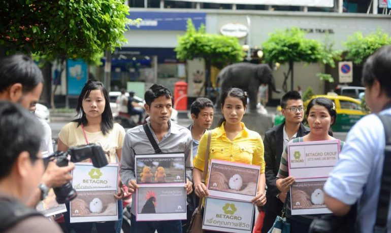 Burmese migrants sue Thai export giant over alleged abuses