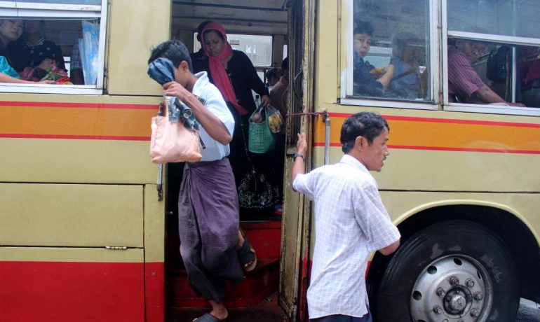 Volunteers take to Rangoon's buses to tackle sexual harassment