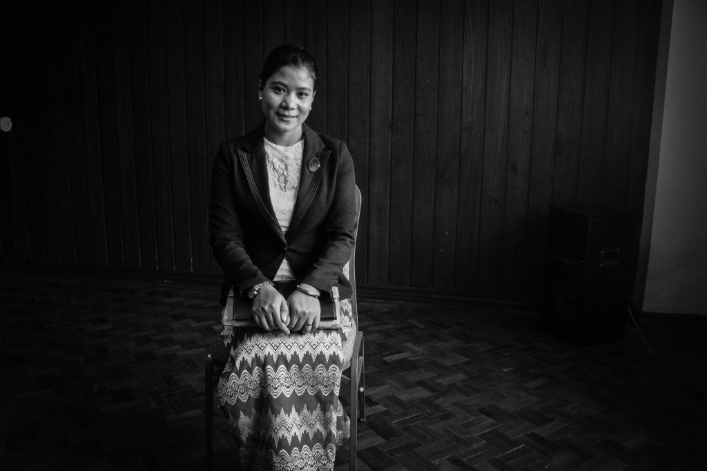 Director of Legal Clinic Myanmar, Daw Hla Hla Yee, says a strong law that protects women from violence is long overdue. (photo: Libby Hogan / DVB)