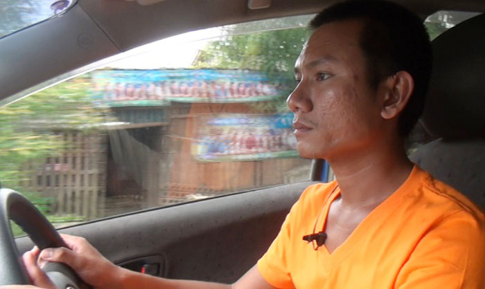 Rangoon taxi driver Than Htike Kyaw . (DVB TV)
