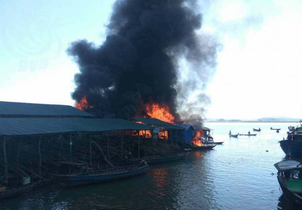 2 injured in Minbya fuel warehouse fire
