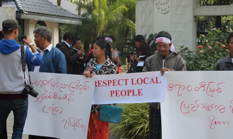Protesters rail against hydropower as sectoral workshop held in Myitkyina
