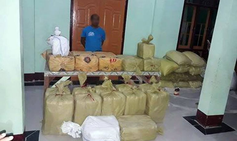 Monk arrested in Maungdaw after monastery raid uncovers yaba stash