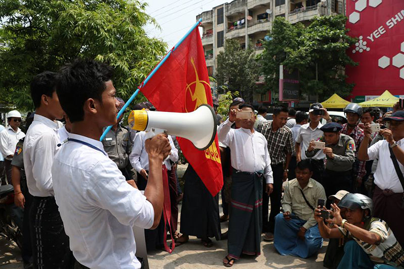 Education protestors appear in Mandalay court