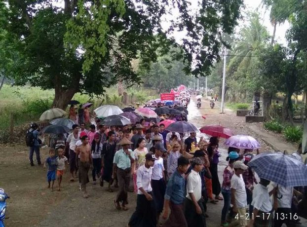 Mrauk-U protestors call for release of abbot accused of backing Arakan Army