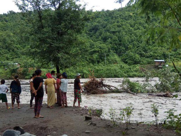 Floods, landslides hit western Chin State