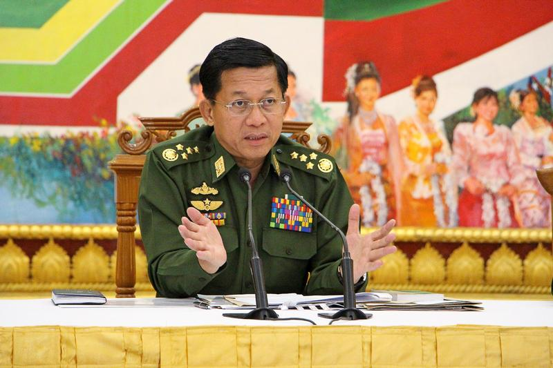Burma Army chief says Rohingya not native, refugee numbers exaggerated