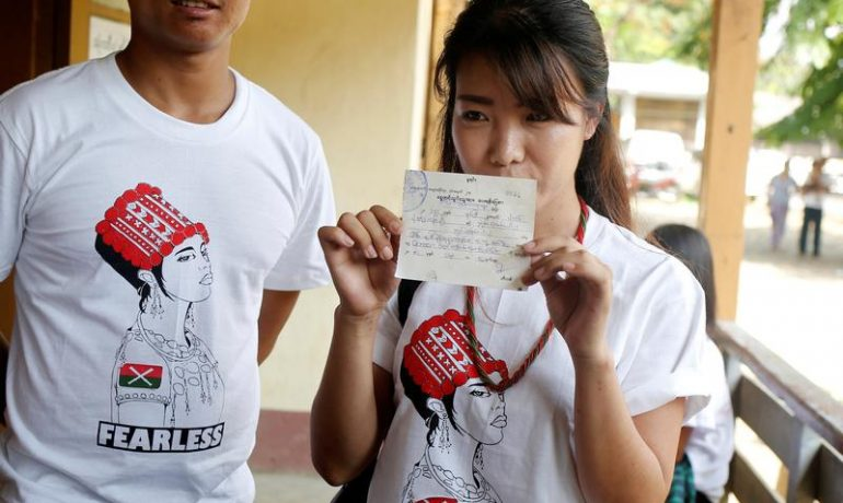 Anti-war protesters call on Suu Kyi to act against 'violent' police