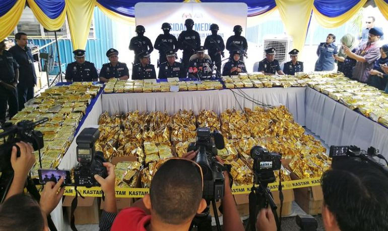 Malaysia makes record bust of crystal meth, shipped from Burma