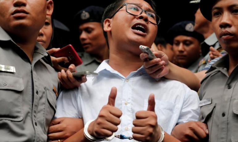 Judge convicts Wa Lone, Kyaw Soe Oo under Official Secrets Act
