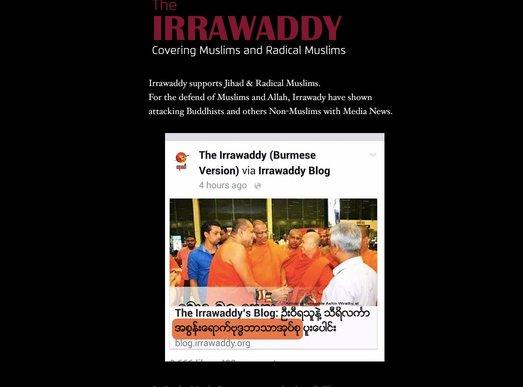 Irrawaddy news site hacked following Wirathu article