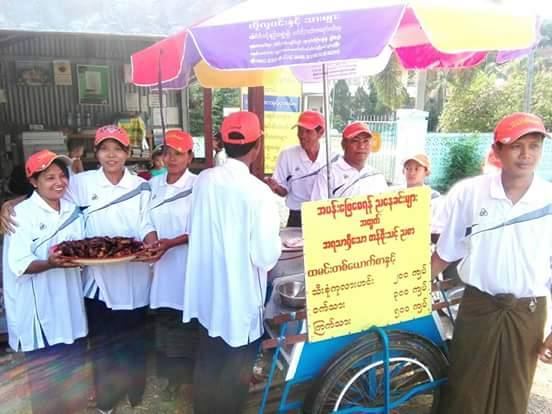 Meals on wheels in Henzada