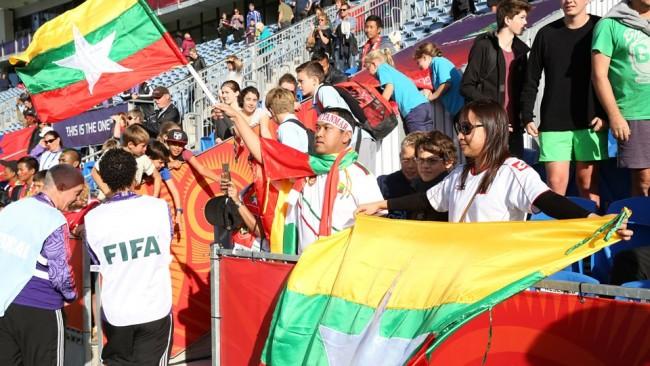 Myanmar at the FIFA U-20 World Cup (Photo - Myanmar Football Federation).