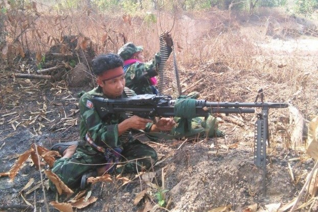 The Democratic Karen Benevolent Army has been engaged in conflict with the Burmese military over the past week. (PHOTO: DVB).