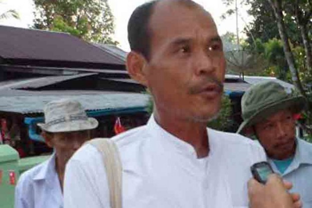 Saw Johnny, a local land rights proponent and NLD leader in Hpa-an. (PHOTO: DVB).