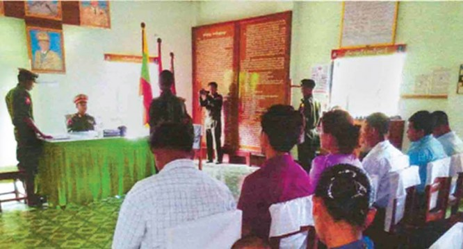 Military court of northern command sentences 7-year imprisonment to soldier.(PHOTO: Myawady News).