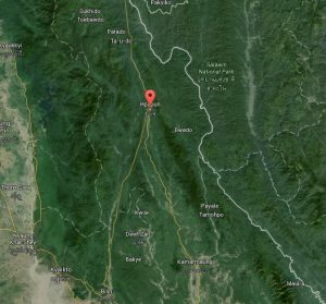 Hpapun, or Papun, is located in a remote part of northern Karen State. (Google map)
