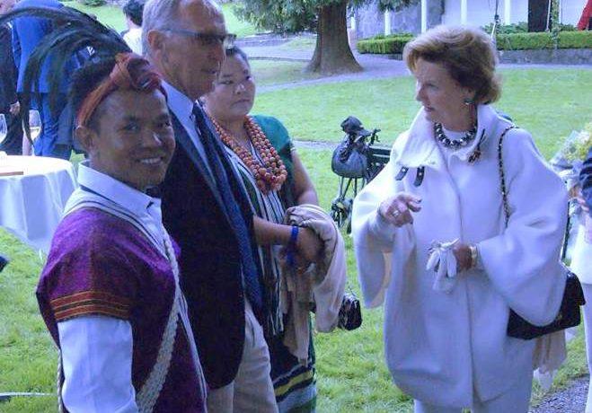 Suu Kyi park founders meet Norwegian royals