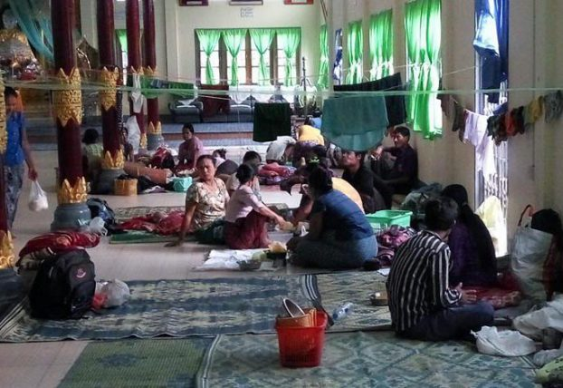 100 families displaced by floods in Hmawbi
