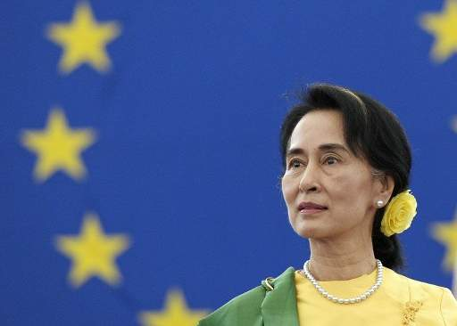 EU credits Suu Kyi govt for improved rights record