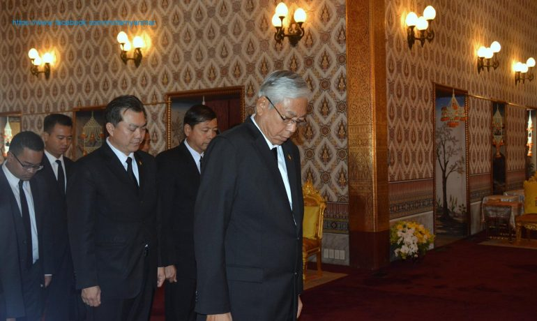 President pays respects to late Thai king
