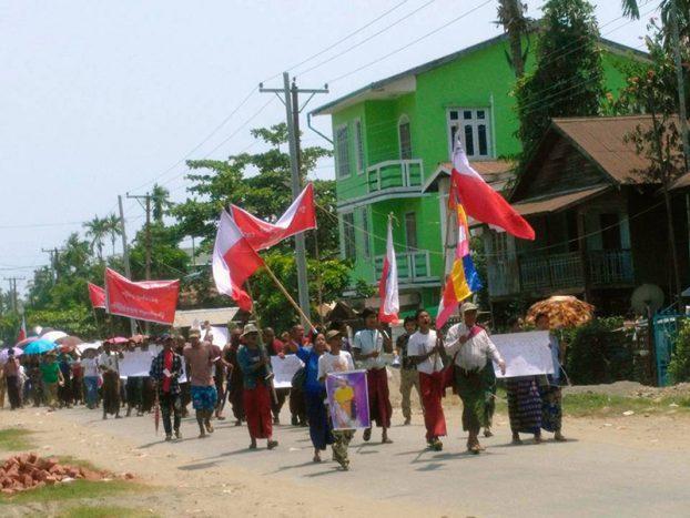 Protesters in Sittwe demand release of 'Arakan Army Cup' organisers