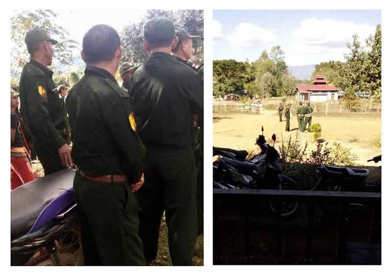 Manpang People's Militia conscripting youths in Shan State