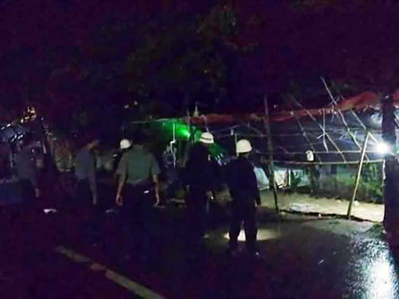 Police break up farmers' protest camp in Mandalay
